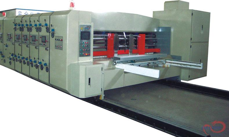 CNC FLEXO PRINTING SLOTTING DIE CUTTING IN-LINE FOLDER GLUER AND COUNTER EJECTOR